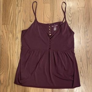 American Eagle cropped purple tank top